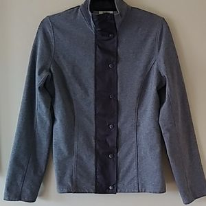 Lovely Neiman Marcus stretch zip/snap jacket S